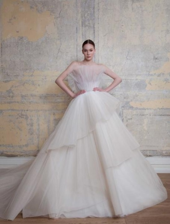 أجمل موديلات فساتين زفاف طبقات 2020