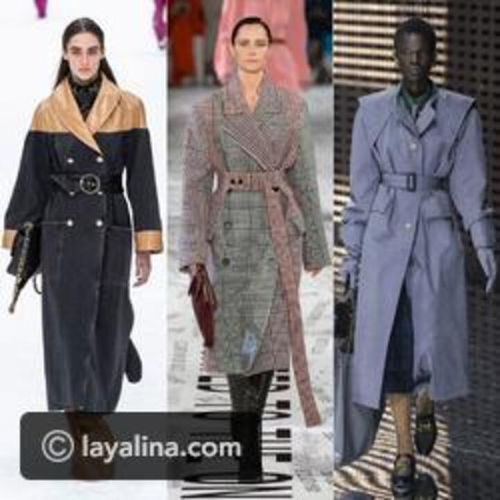 أنسي المعاطف التقليدية وجربي معطف trench بطرق مختلفة من عروض الأزياء