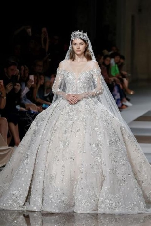 اخر موضة طرحات العروس 2020