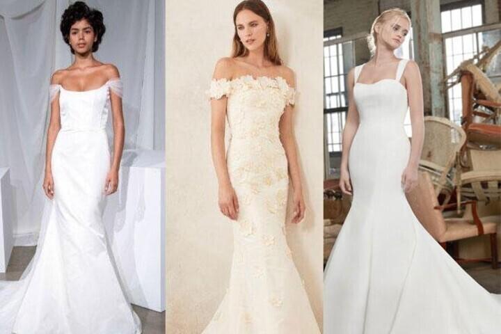أجمل فساتين زفاف ضيقة 2020