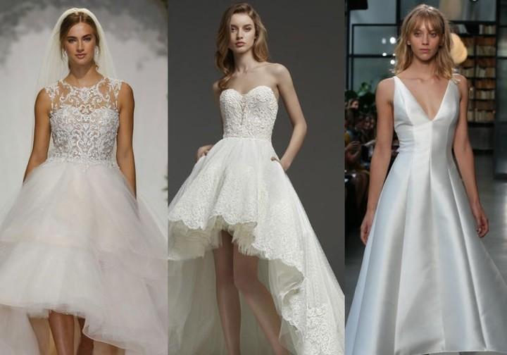 فساتين زفاف High Low 2019 للعروس العصرية