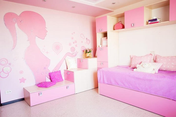 غرف نوم بنات في نصائح ديكور مُفصَّلة