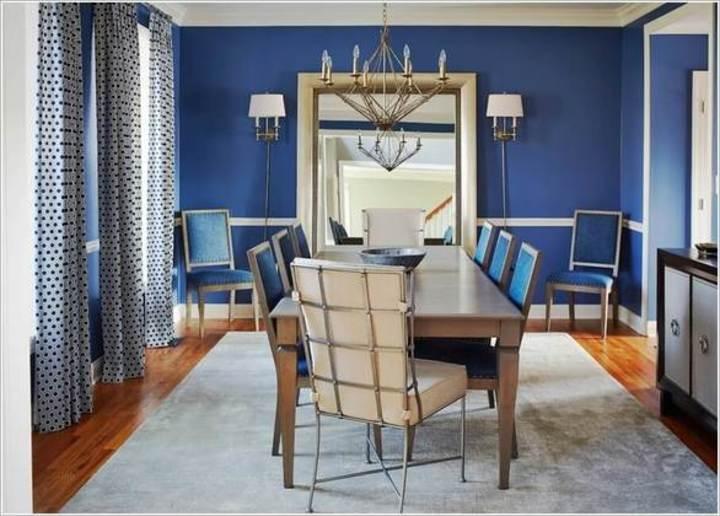 تصاميم أنيقة بالأبيض والأزرق لديكور المنزل