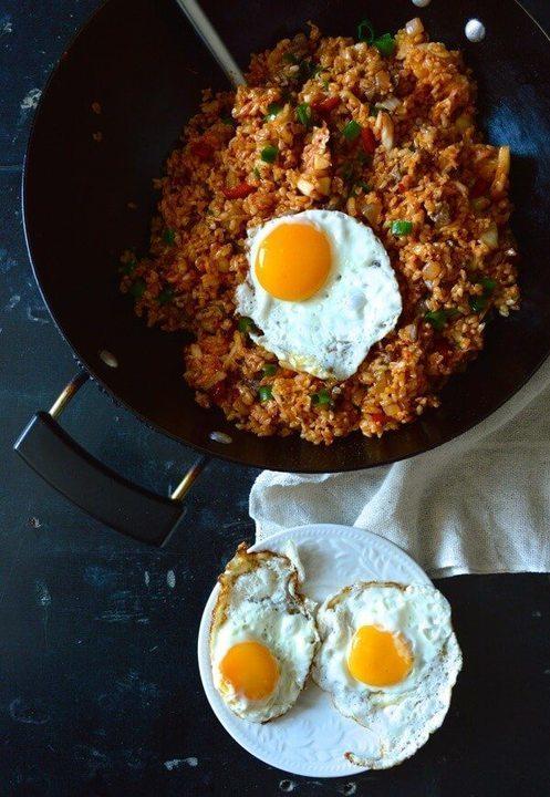 أرز باللحم مع البيض بالطريقة الصينية بالصور