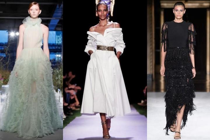 فساتين سهرة بحسب الجسم من عروض أسبوع الموضة في نيويورك