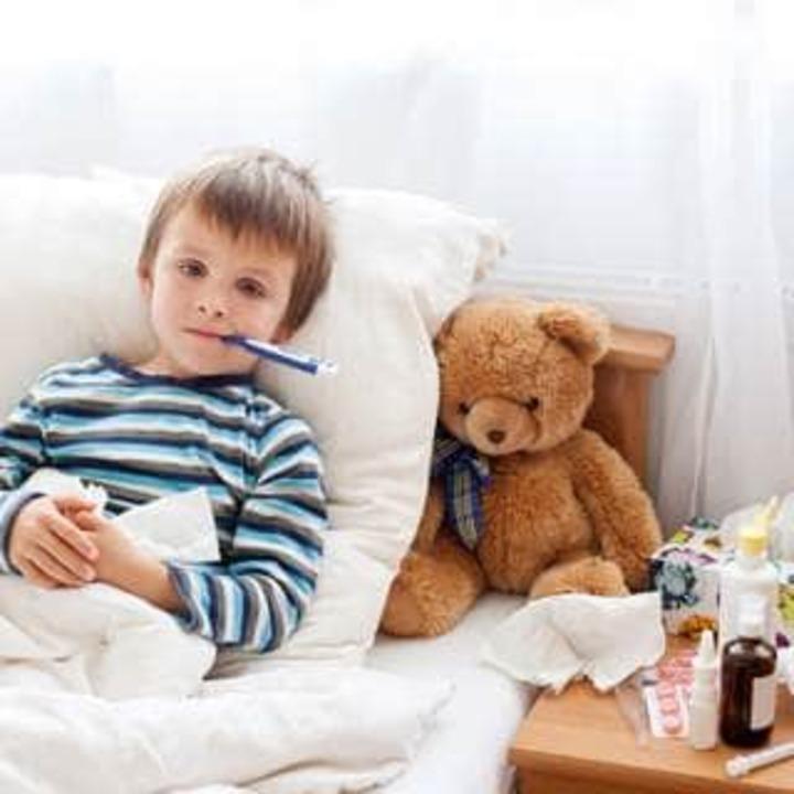 علاج الحرارة عند الاطفال