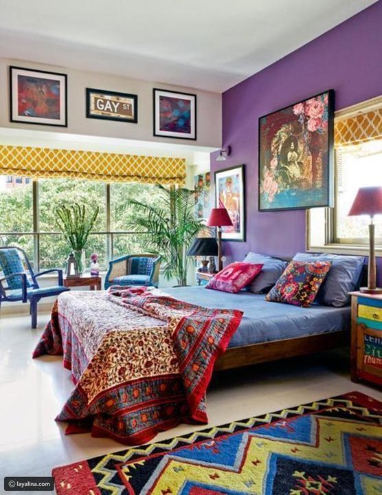 ديكورات غرف نوم هندية للمنازل البعيدة عن التقاليد