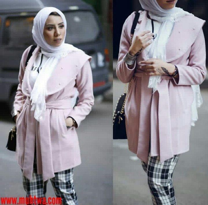 b6f13dab53806 ملابس شتاء 2019 للمحجبات اجمل ملابس شتوية