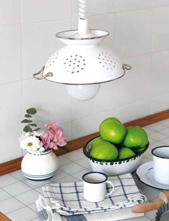 بالصور: إعادة استخدام أدوات المطبخ لصنع لمبات إضاءة